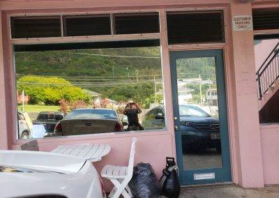 Alejandro's Mexican Restraunt in Kalihi needed privacy film