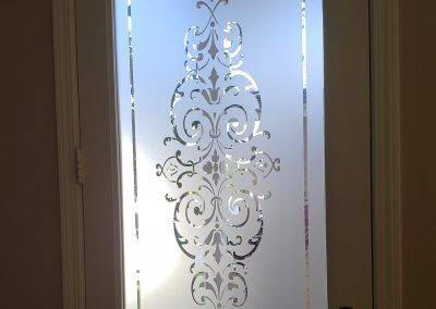 Frosted decorative door film